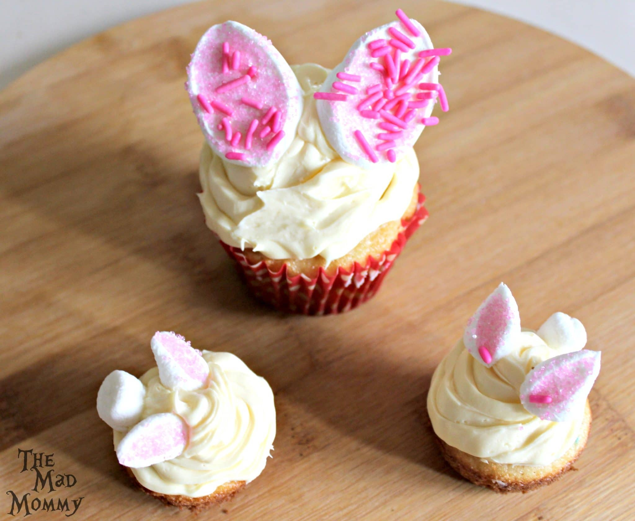 "Serve your Quick Like A Bunny Cupcakes and listen to the ""oooohhhh, aahhhhs and Oh Fer Cutes!"" from your guests before they devour them all!"