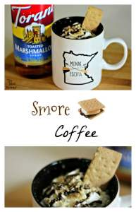 You know that no fire or camp out is complete without some ooey, gooey Smores! Am I right?! Of course I am, so why don't you get into the mood with my Smore Coffee recipe!