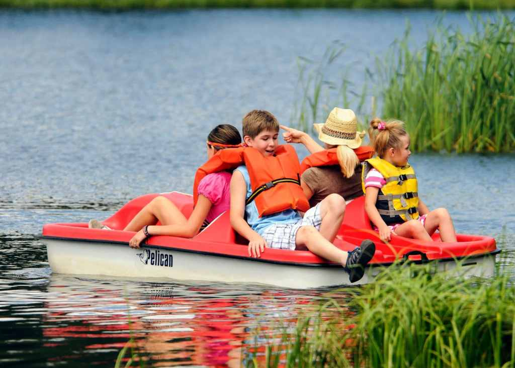 Paddle Boating on Lake Sylvan in Custer State Park! #ad #HifromSD