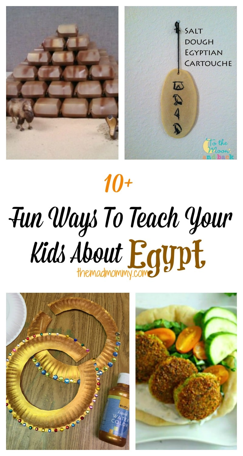Egypt has always been a land of mystery and wonder! It holds so many secrets of the past and is also, equally moving towards the future. Here are 10+ fun ways to teach your kids about Egypt.