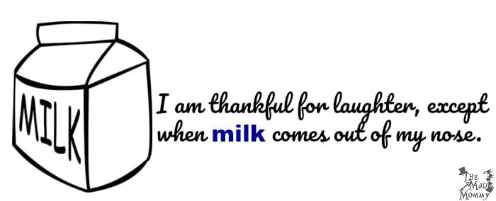 When Milk Comes Out Of Your Nose! Free Printable Milk Jokes For Kids!
