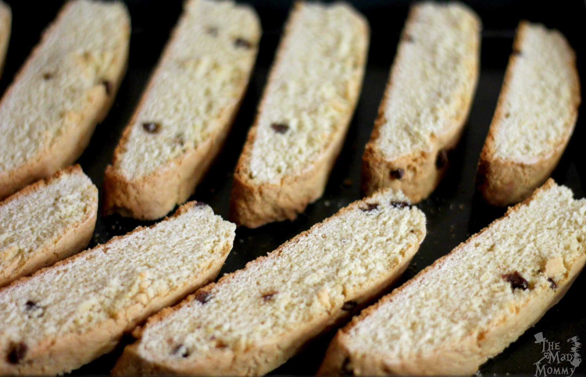 Biscotti slices ready for their final bake. #AD #AToraniHalloween