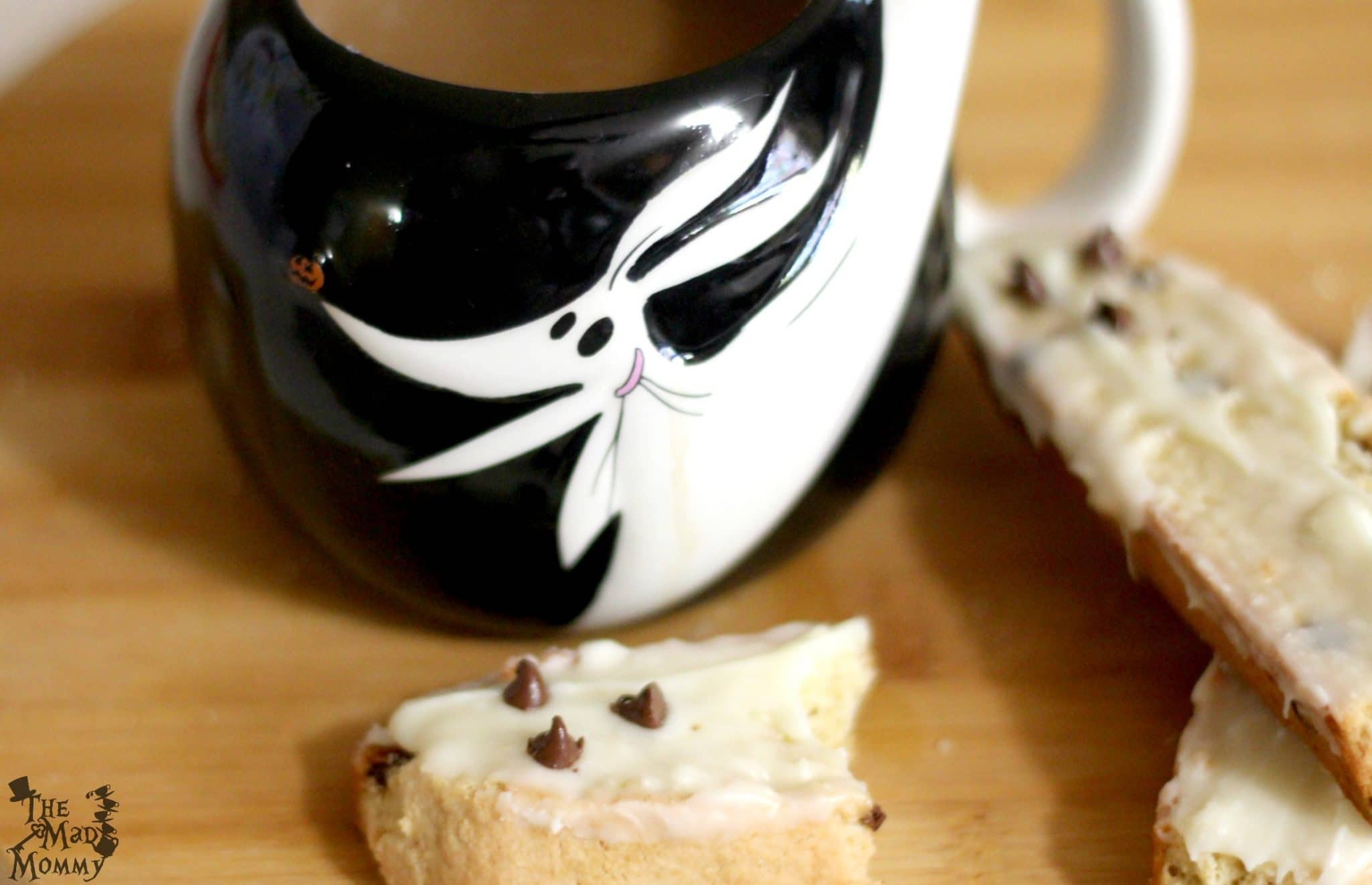"""Enjoy your Chestnut Praline """"Boo-scotti"""" with your favorite coffee or hot chocolate recipe! #AD #AToraniHalloween"""