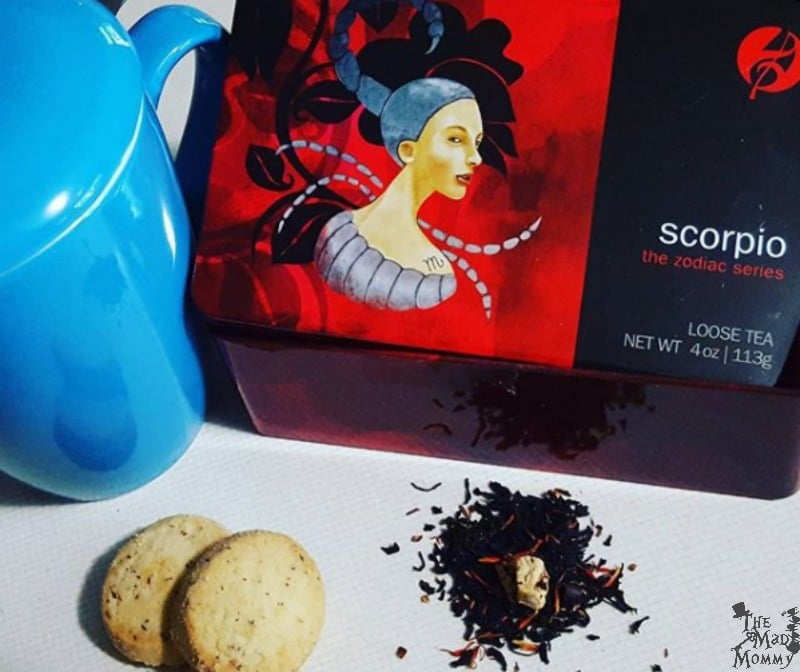 An intense blend of black tea, rooibos and vanilla will sustain Scorpio's investigations and secret affairs. Scorpios will not rest until they have penetrated into the heart of every matter, and they need a strong drink to fuel their determination. Chocolate chips and mango pieces add a rich flavor that Scorpios can savor in private.