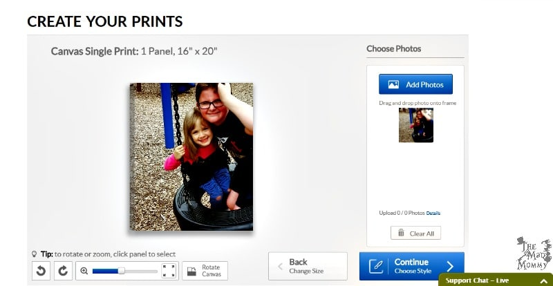 Ordering and creating canvas prints online is super easy at the CanvasFactory.com. You can upload photos from your computer or phone and you can also access your own social media accounts!