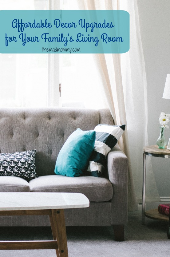"Small changes can add up to a huge difference. A bonus to taking the ""less is more"" approach is that the following decorating moves are easy enough to implement before the kids come back from school. Here are some affordable decor upgrades that give your family room an overhaul without a painful price tag."