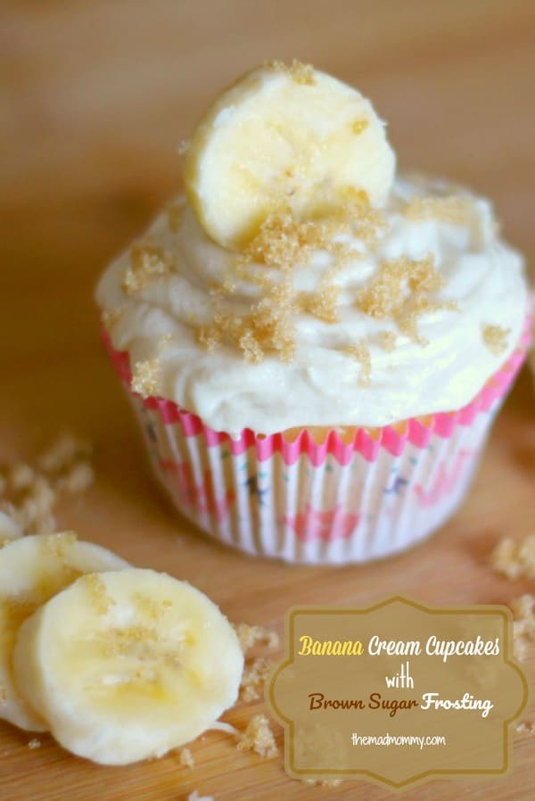 This recipe is beautiful, delicious, but super easy! This cake mix pudding recipe will impress anyone! Here are my Banana Cream Cupcakes with Brown Sugar Frosting!