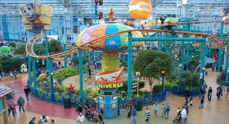 Nickelodeon Universe inside the Mall of America is the nation's largest indoor theme park! It boasts over 7 acres of rides and carnival style fun! It also happens to celebrating it's 10th birthday!