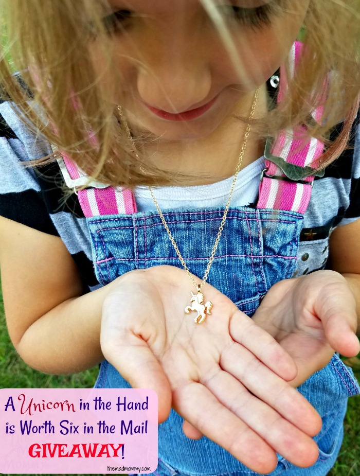 Right now, it's all about the unicorns and we all know it! Unicorns are the in thing! Every girl wants one, wants to be one and wants to wear one! Thanks to Blissful Unicorns, my daughter wears one around her neck!