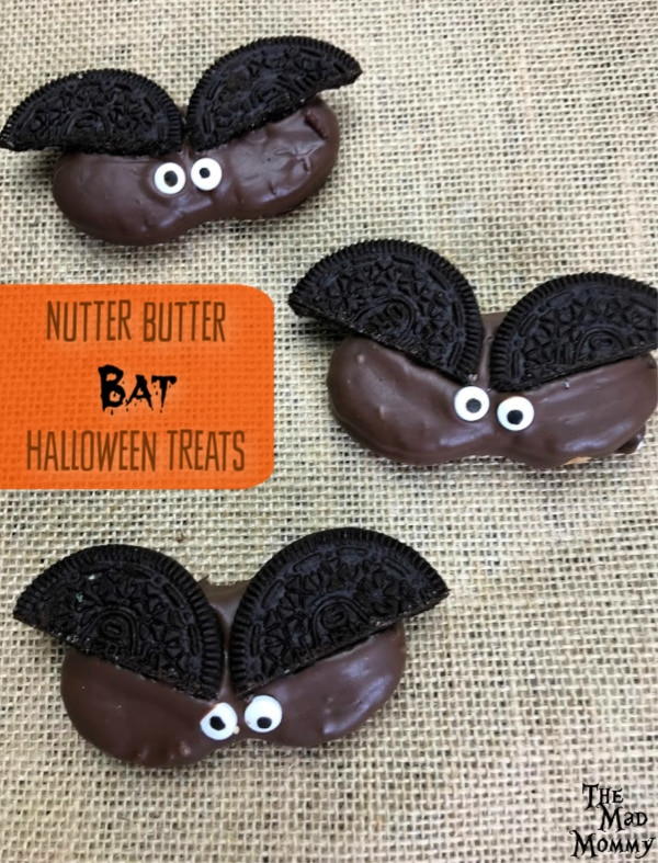 Surprise and amaze your family, friends and guests when you offer up a tray of Halloween treats that include ghosts, Frankenstein's monster and of course, these Nutter Butter Bats!