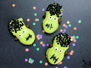 I love Halloween and I am all about minimal effort! Themed snacks and treats are all the rage, but I have when they are super complicated or overly artsy, don't you? Quick and easy is the name of the game with these Nutter Butter Frankenstein Halloween Treats!