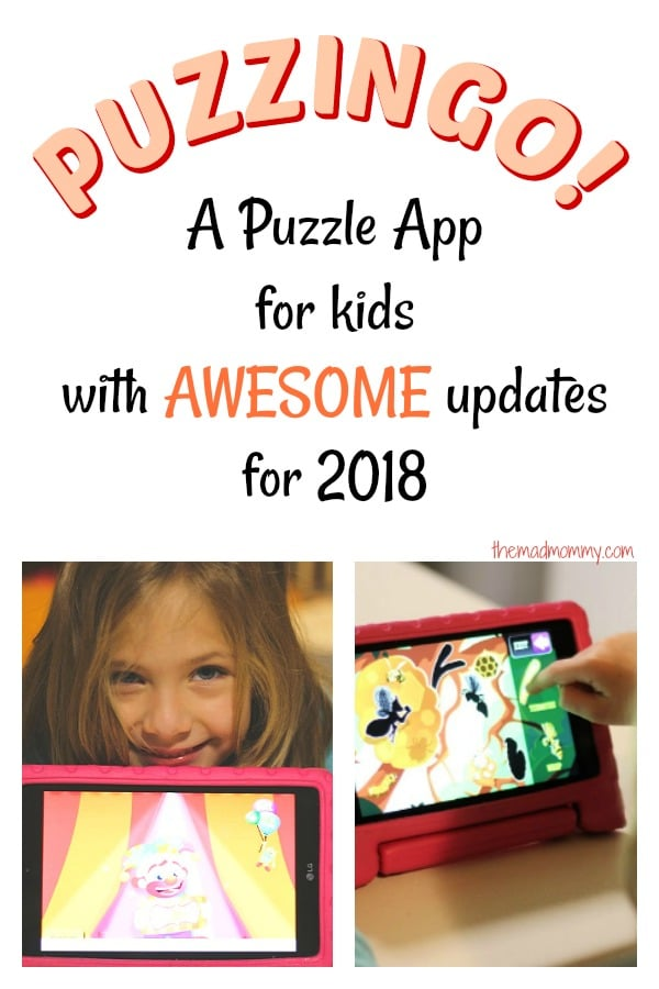 Grab that that tablet, download the Puzzingo puzzle app and don't be puzzled by your kid's holiday boredom! It is fun for them, it is educational and it is a parenting win! Boom! *mic drop*
