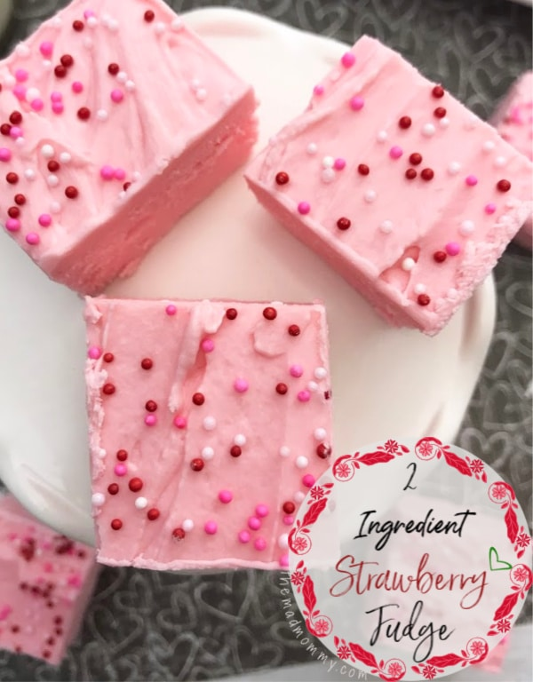 Are you looking for the perfect, prettiest, but easiest treat to surprise your Valentines with? Lucky for you, minimal effort with maximum result recipes are my specialty and this 2 ingredient Strawberry Fudge is no exception. It will make anyone's heart skip a beat and satisfy even the strongest sweet tooth!
