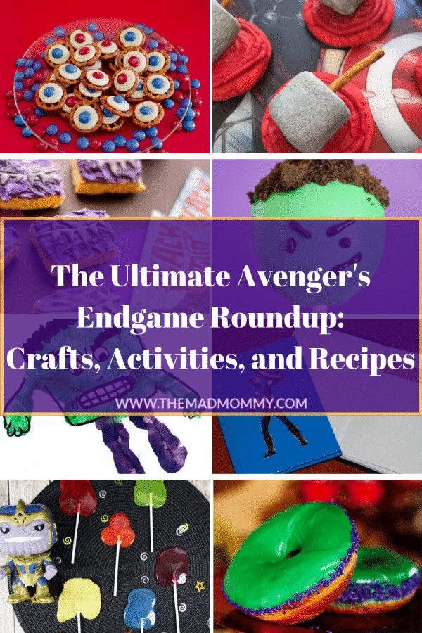 If you are a Marvel fan like me and are looking for a fun way to celebrate the next movie in the Avengers series, then you won't want to miss this! I have put together a list of some of my favorite crafts, activities, and recipes to help you get ready for Endgame! Here is the ultimate Marvel Avengers Roundup!