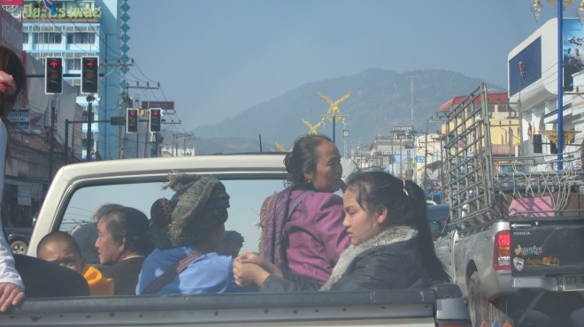 Driving towards the border