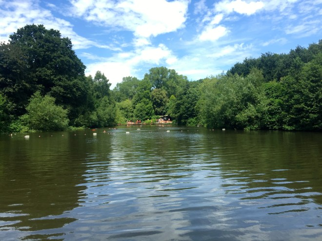 Spent an enjoyable day in the bathing pond at Hampstead Heath, but the water was FREEZING.
