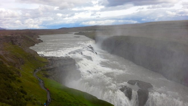 'Golden Falls' (Gullfoss in Icelandic.