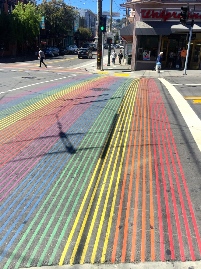 Awr look, a rainbow crosswalk