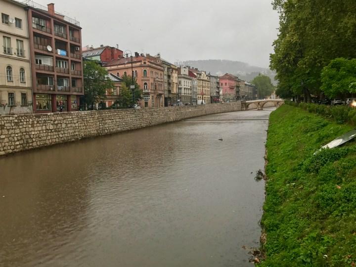 Latin bridge, stone bridge Sarajevo