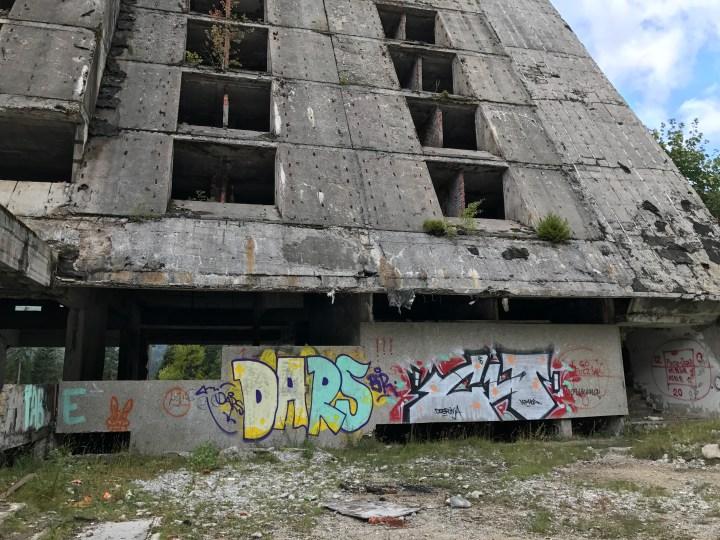 Sarajevo abandoned building