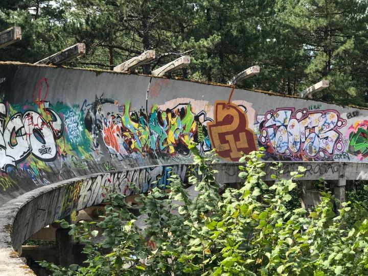abandoned bobsleigh Sarajevo grafitti
