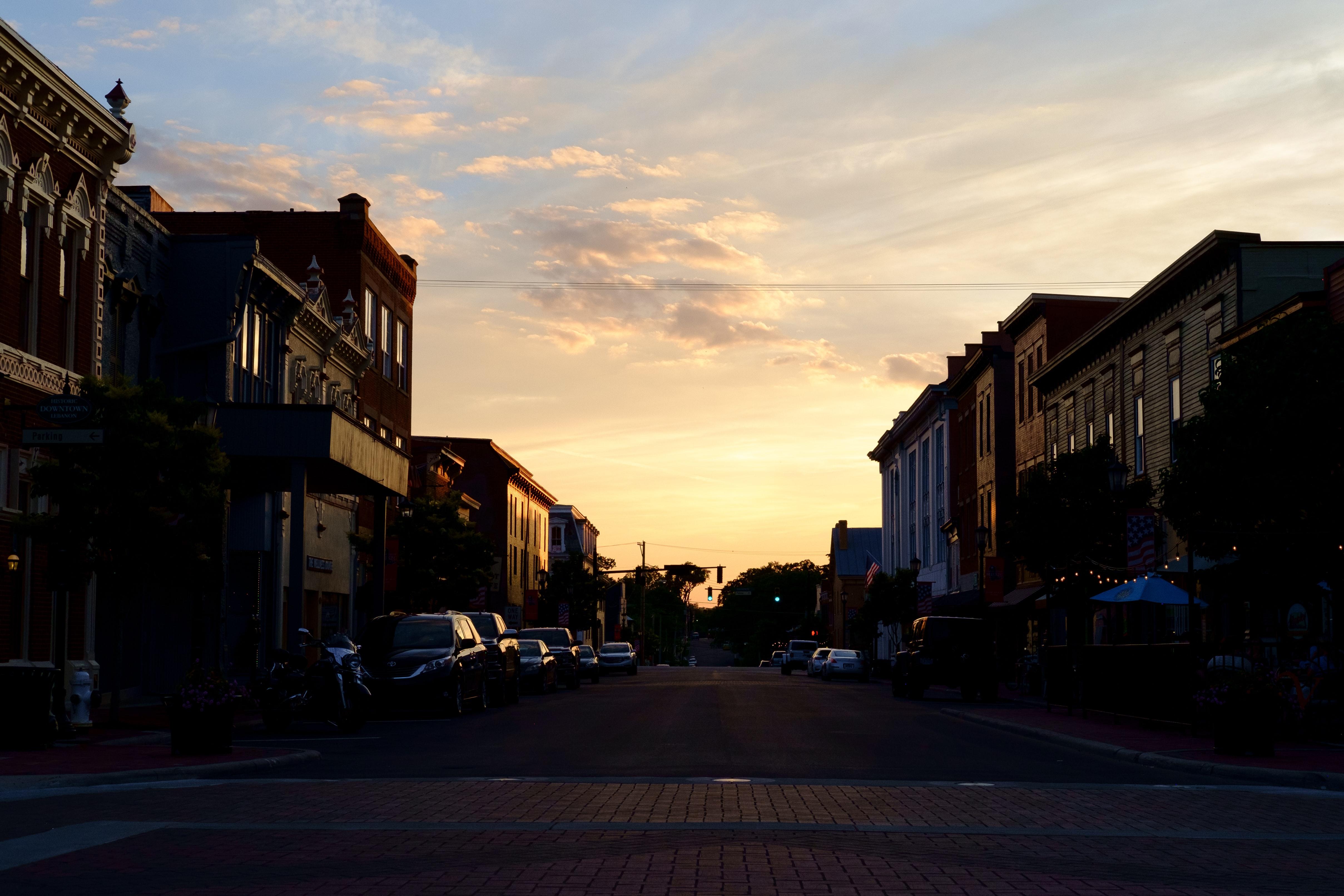 Sunset in Lebanon, Ohio