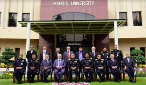 Chief of the Naval Staff Admiral Muhammad Amjad Khan Niazi in a group photo wiht Board of Governors of Bahria University Islamabad.