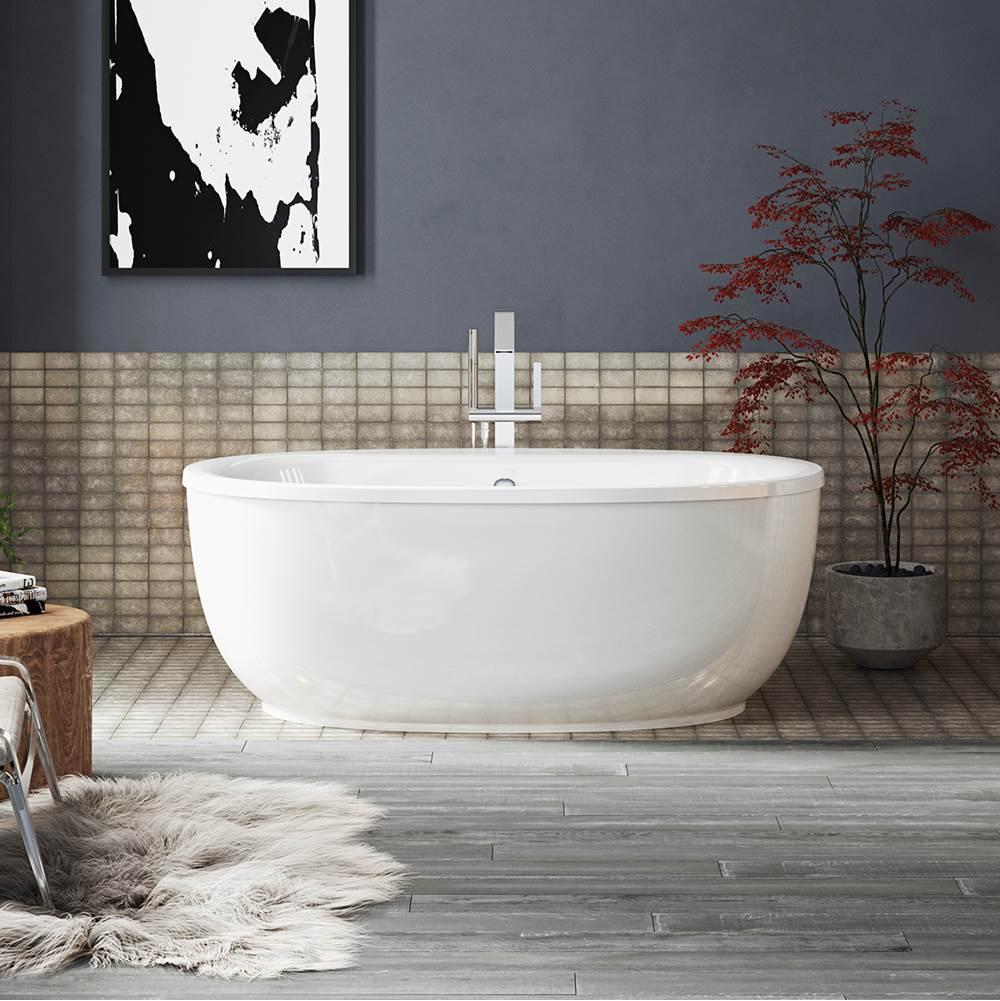 kohler sunstruck k 6369 0 66 freestanding bath with fluted apron