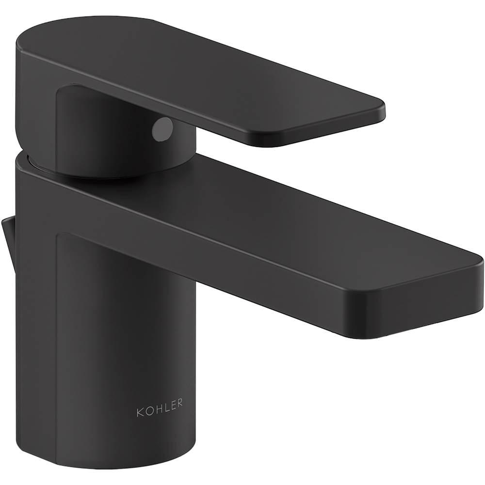 parallel short single handle bathroom sink faucet