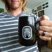 TMM Bold Monogram Mug Action Shot