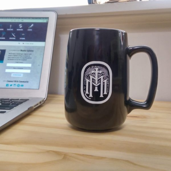 The Majestys Mug Bold Monogram