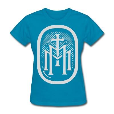 womens tmm bold monogram front turquoise