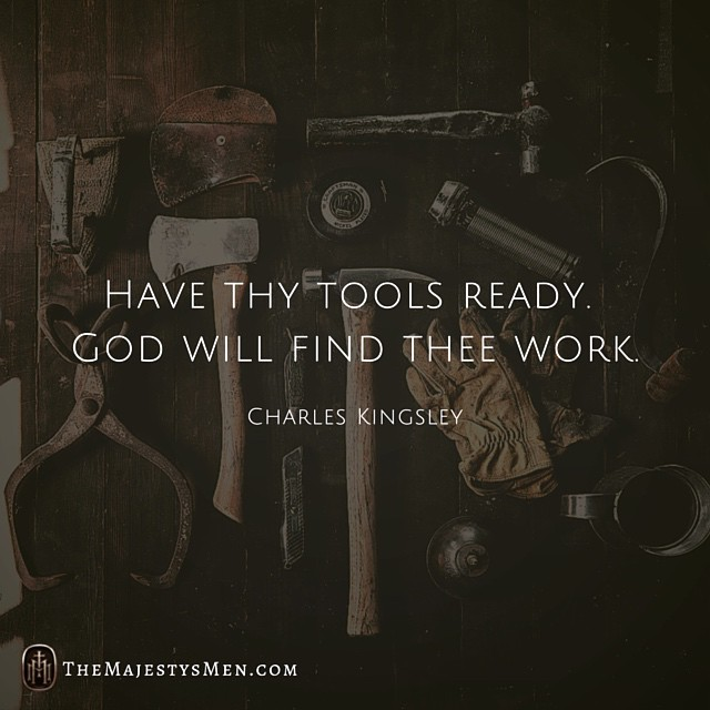 tools work charles kingsley quote image