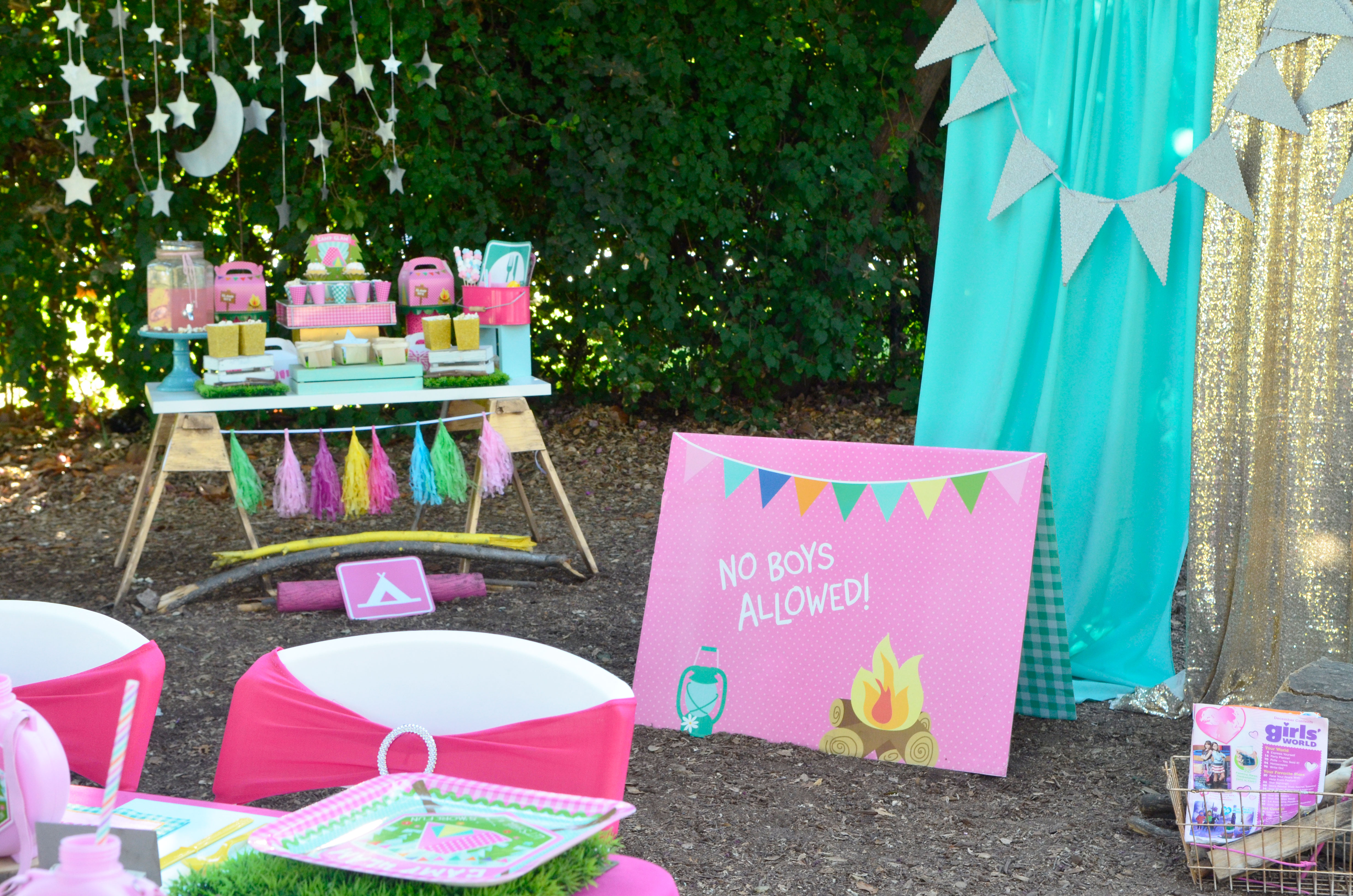 a diy girly u201cglam camp u201d out party