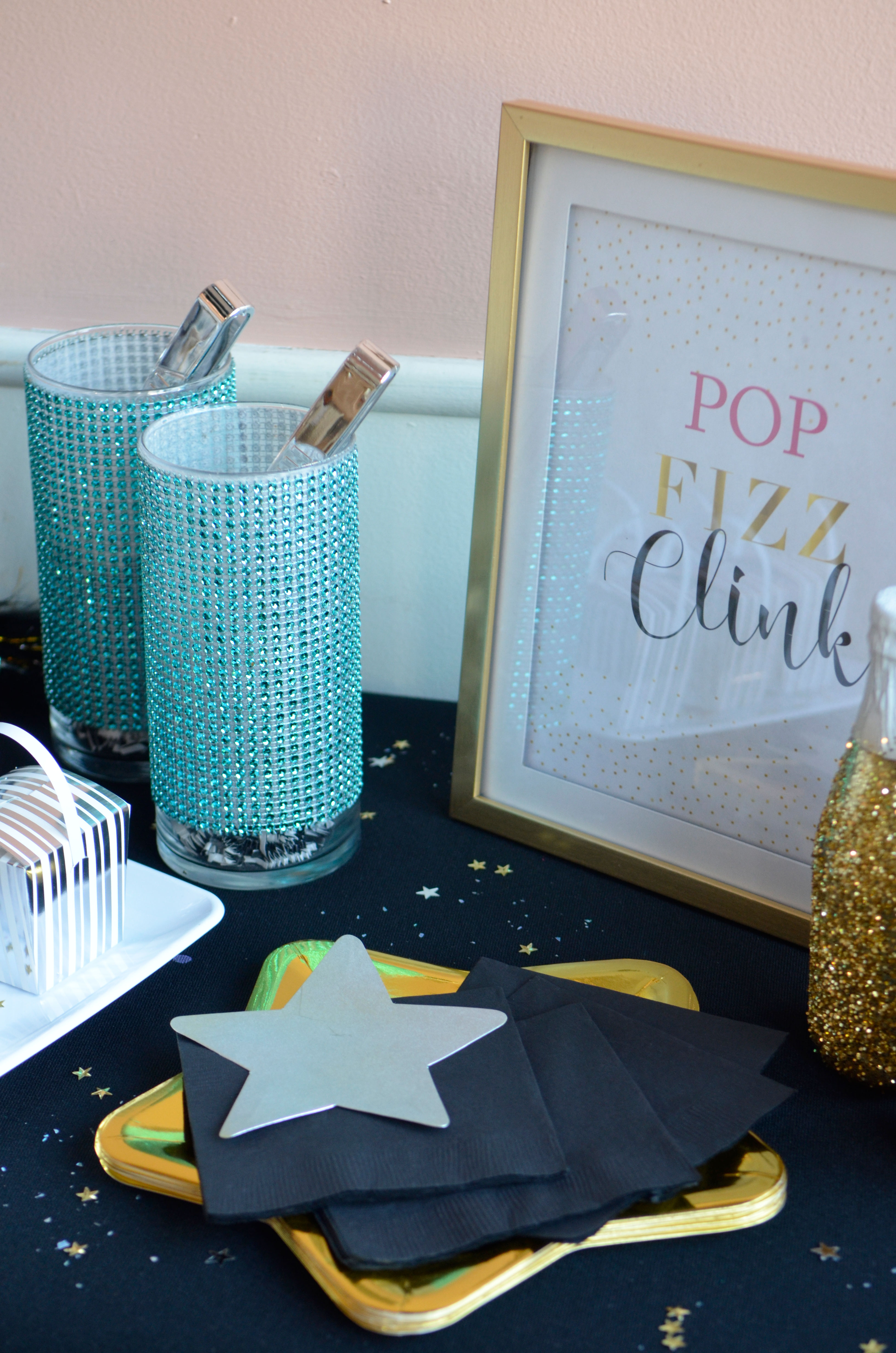 new years eve party ideas decorations cheap dollar tree diys the makeover mom bubbly bar drink buffet 2018