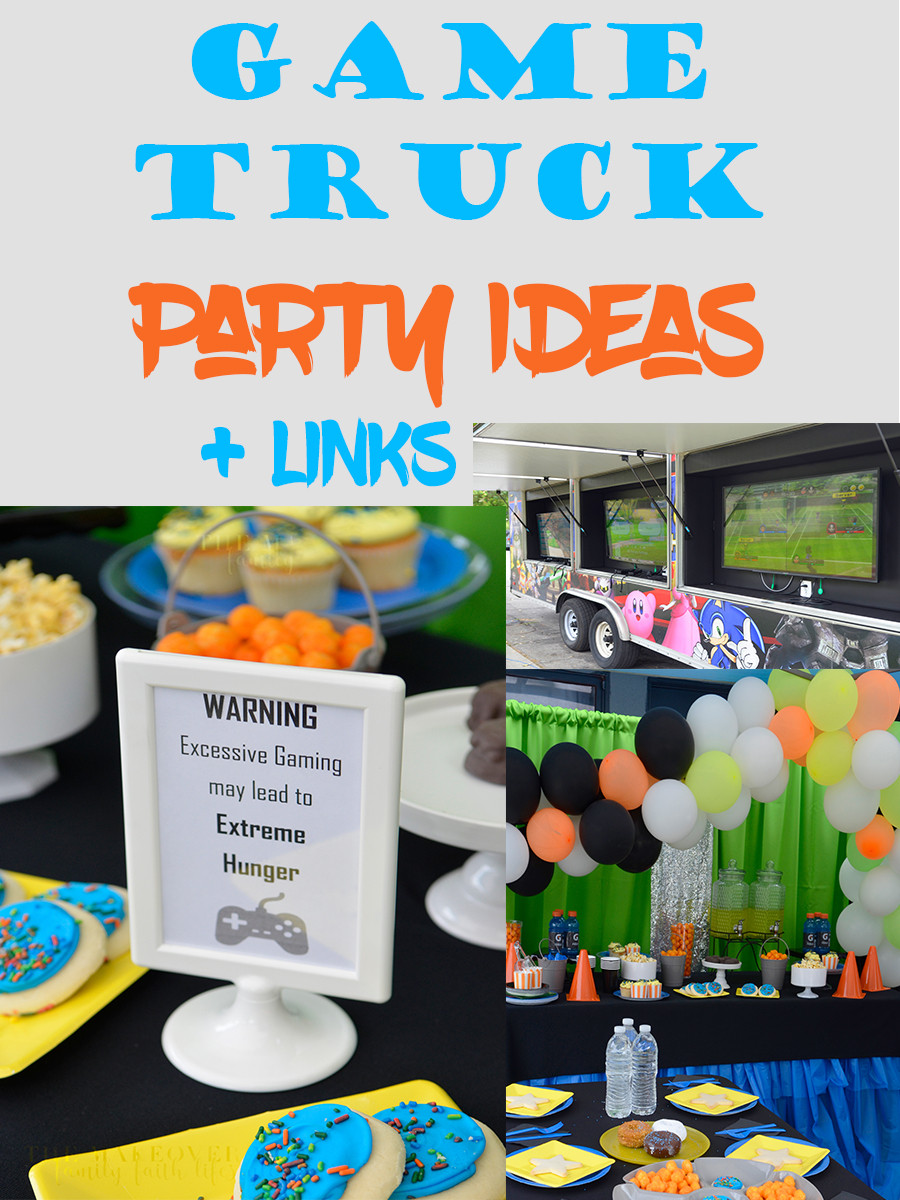 2 Hours 20 To Plan A Party Game On Boy S Game Truck Theme
