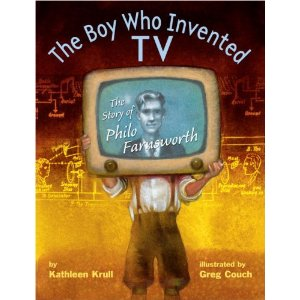 Phil Farnsworth, the boy who invented TV, picture book review at TheMakerMom.com