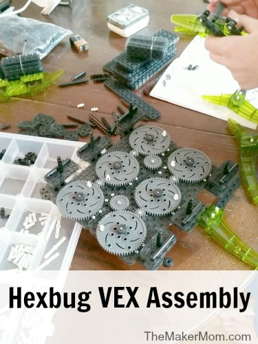 hexbug VEX robot assembly (Scarab)