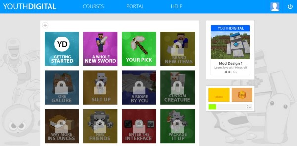 Teach kids to code with Youth Digital Minecraft  modding class