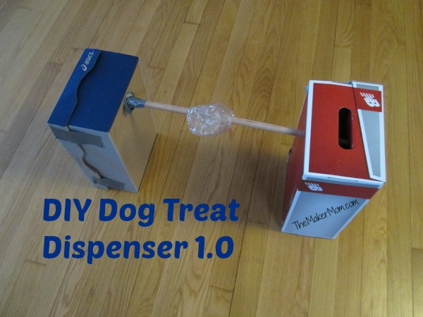 Easy DIY Dog Treat Dispenser, Version 1 from www.TheMakerMom.com