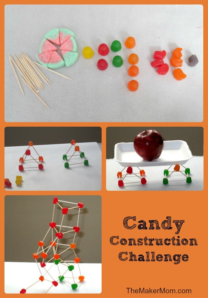 Candy Construction Challenge Snactivity helps fight the summer slide. Learn how at www.TheMakerMom.com.
