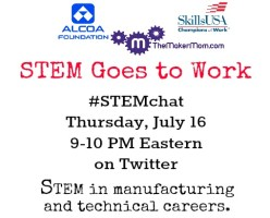 STEM Goes to Work: It's the July #STEMchat on July 16