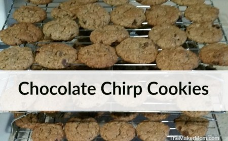 Chocolate Chirp Cookie recipe. Tasty cricket flour cookies made that pack a nutritious punch. Recipe at www.TheMakerMom.com.