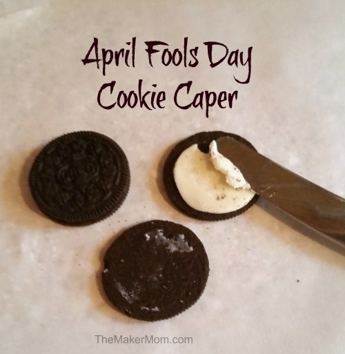 The April Fools Cookie Caper. Don't miss these four family friendly April Fools pranks on TheMakerMom.com