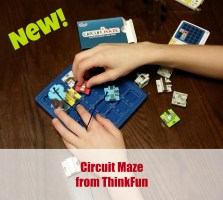Circuit Maze is the latest logic game from ThinkFun. It's presents fun logic challenges that build your brain.