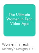 WOmen in Tech App by Delaney Rua, winner of the 2015 Congressional App Challenge
