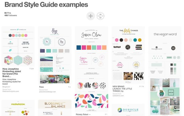 style guides on pinterest