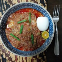 Mee Siam (Rice Vermicelli with Sweet and Sour Gravy)
