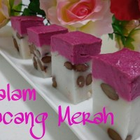 Talam Kacang Merah (Steamed Cake with Red Beans)