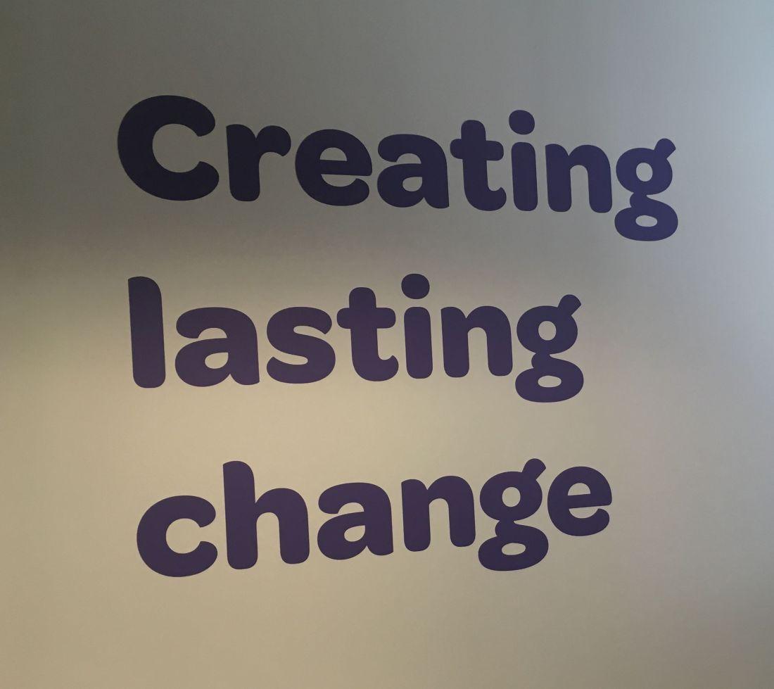 Making lasting change